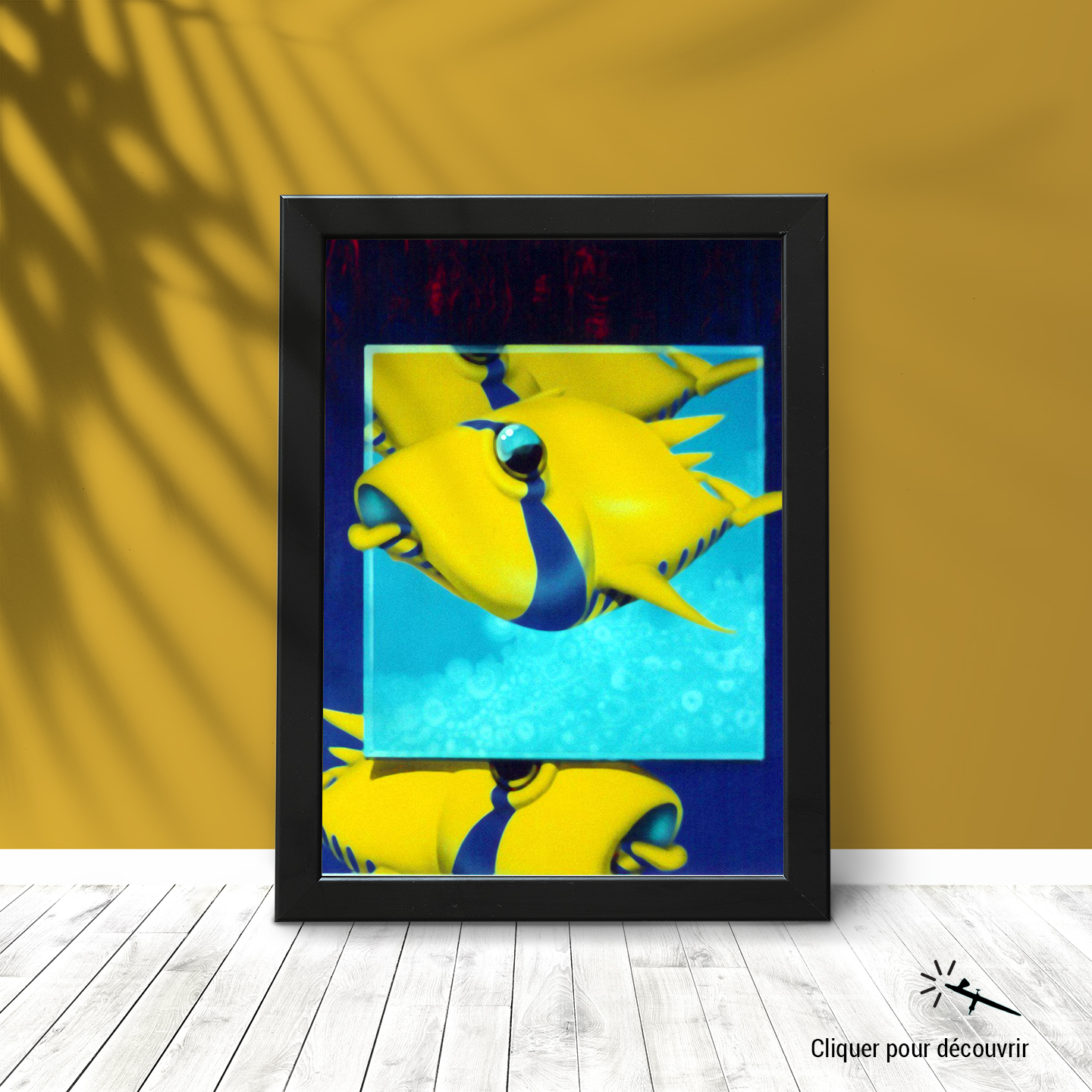Frame by a yellow wall
